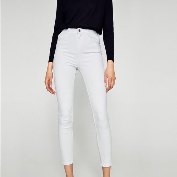 d00521c6 Zara Jeans   White Ankle High Waisted Skinny   Poshmark